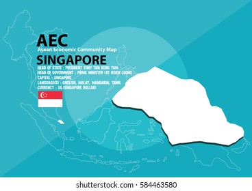 Map Of Asia Showing Singapore.Singapore Map Flag Images Stock Photos Vectors Shutterstock