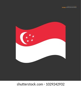 Singapore national flag background texture.vector illustration.