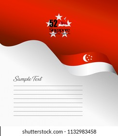 Singapore topside brochure cover vector,August 9th Singapore's independence day. Singapore National Day.  graphic for design element