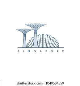 Singapore. Vector illustration.