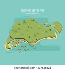 Singapore vector map