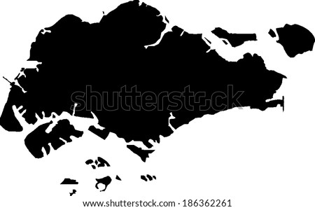 Singapore Vector Map Stock Vector (Royalty Free) 186362261 ...