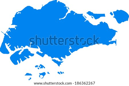 Singapore Vector Map Stock Vector (Royalty Free) 186362267 ...