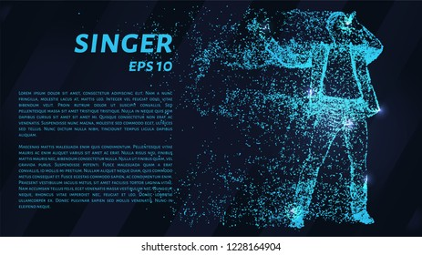 The singer of the blue glowing dots. The particle singer