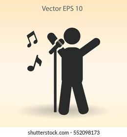 singer vector icon