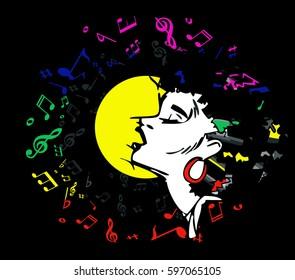 singer woman singing music jazz blues