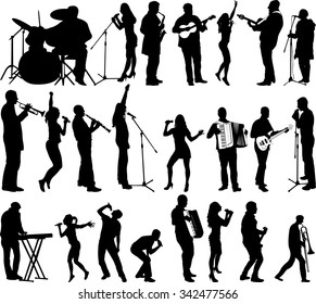 singers and musicians collection - vector