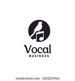 Singing Bird for Music Vocal logo design inspiration