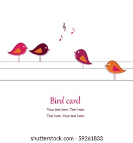 Singing  birds on wires