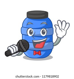 Singing cartoon plastic barrel for trash dry