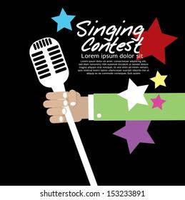 Singing Contest Conceptual Vector Illustration EPS10