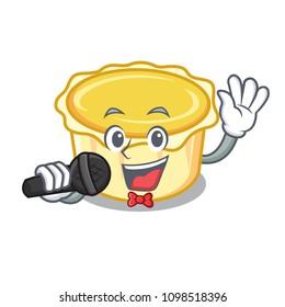 Singing egg tart mascot cartoon