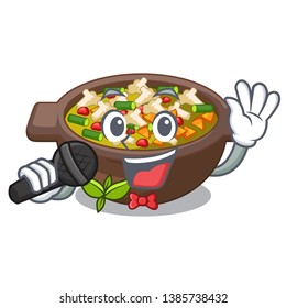 Singing fried minestrone in the cup character