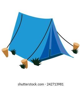 A single Blue canvas Tent.  sc 1 st  Shutterstock & tent poles Stock Illustrations Images u0026 Vectors | Shutterstock