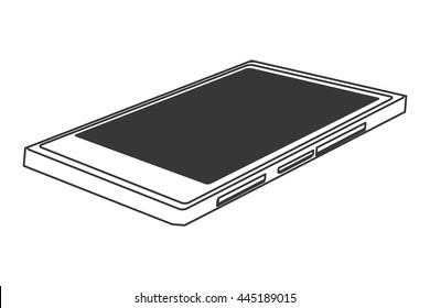 single cellphone lying down icon