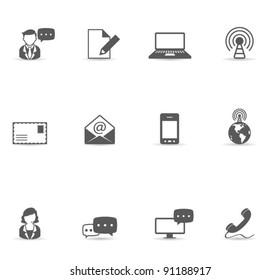 Single Color Icons - Communication