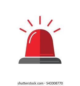 Single design element demonstrating red flasher siren. vector