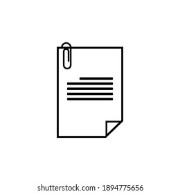 Single document paper, simple vector