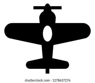 Single Engine Propeller Plane Icon