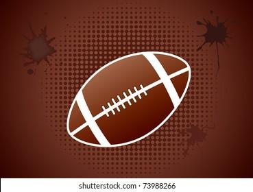 a single football grunge background