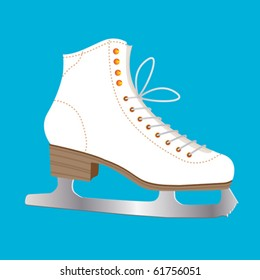 Single Ice Skate ready to draw beautiful circles on ice.