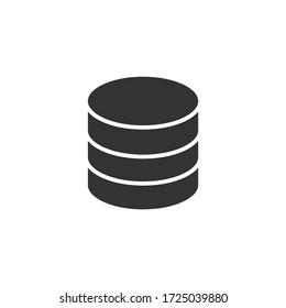 Single icon of a database isolated on white background
