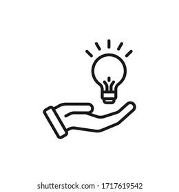 Single icon of a idea vector illustration