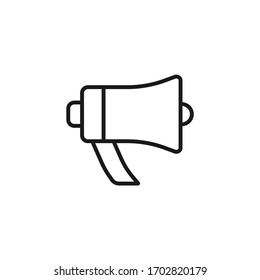 Single icon of a megaphone vector illustration