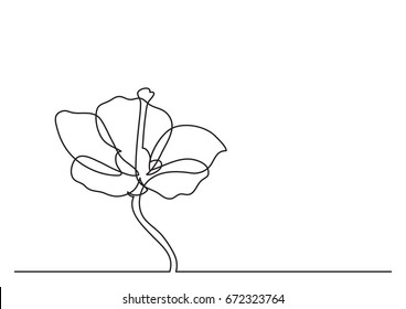 single line drawing of beautiful flower