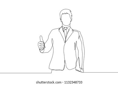 Line Drawing Person Standing Up Stock Illustrations Images