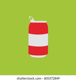 single one modern clean simple flat design opened cold cola can drinks icon or symbol illustration for summer cool & tasty soft drinks new beverage products