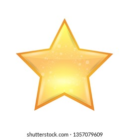 Single Realistic shining star icon. Vector illustration.
