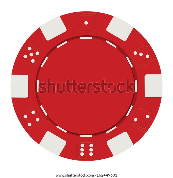 Single Red Casino Chip Isolated On Stock Vector Royalty Free 162449681