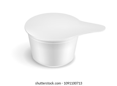 Single serve cup for dairy creamer.