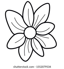 single simple outline flower illustration