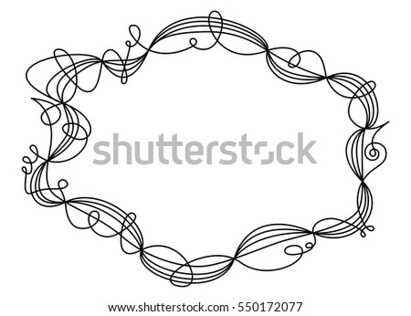 Single Swing Thread Frame Decorative Ornament Stock Vector (Royalty ...