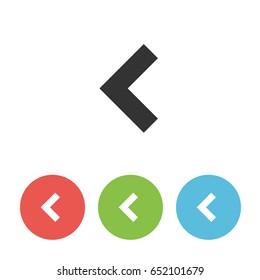 Single vector arrowhead back for webdesign