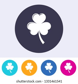Single vector round abstract clover leave sign icon