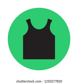 singlet flat icon. You can be used singlet icon for several purposes like: websites, UI, UX, print templates, presentation templates, promotional materials, info-graphics, web and mobile phone apps.
