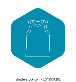 Singlet icon. Outline illustration of singlet vector icon for web
