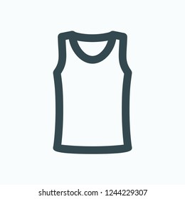 Singlet icon, shirt vector icon