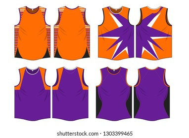 Singlet jersey design template vector