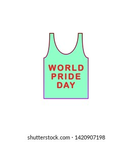 Singlet, pride day icon. Element of color world pride day icon. Premium quality graphic design icon. Signs and symbols collection icon
