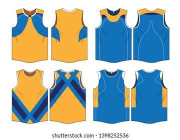 Singlet running sports design vector template