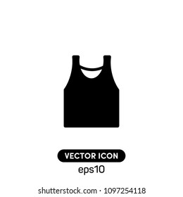 Singlet Sleeveless Shirt Vector Icon Illustration For Web And Mobile App.Ui/Ux