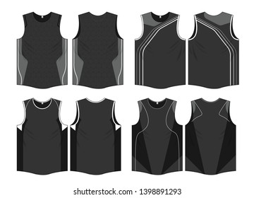 Singlet sports jersey uniform template vector