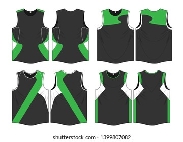 Singlet t shirt sports jersey running marathon vector template