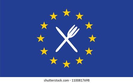 Single-use plastics regulation on european union map