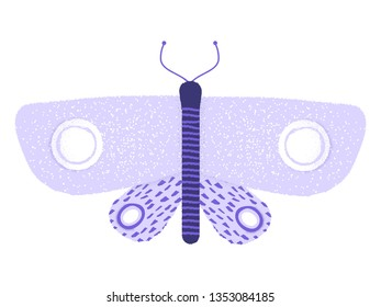 singular butterfly with stipple texture vector icon illustration
