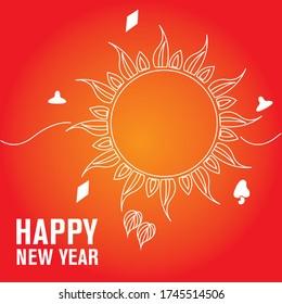 Sinhala & Tamil New Year vector.Sri Lankan Big event.Vector